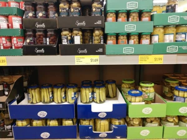 Pickles and Olives at Aldi