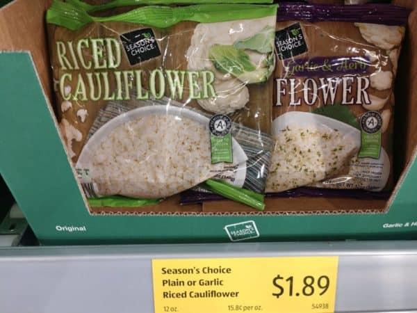frozen riced cauliflower