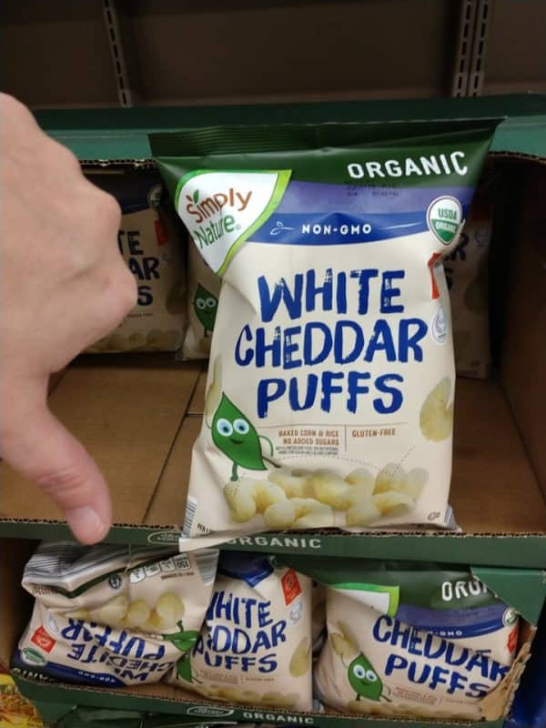 white cheddar puffs