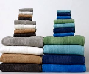 Martha Stewart Towels Multiple Colors Stacked Together