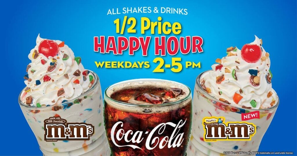 Steak and Shake Happy Hour Fast Food Deals