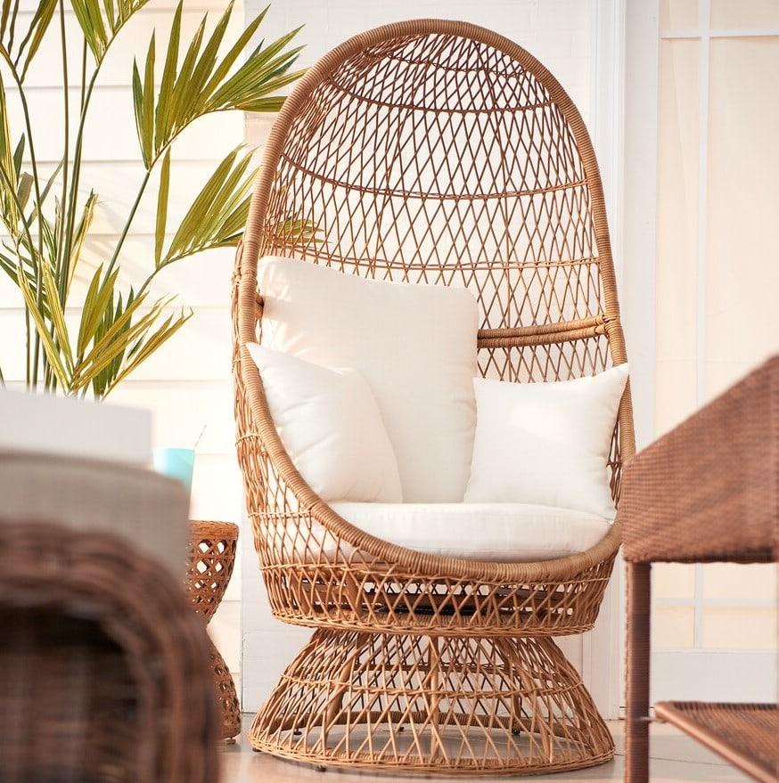sonoma wicker swivel egg chair 75 off