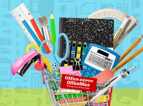 These office depot school supplies sales are a great way to get cheap school supplies!