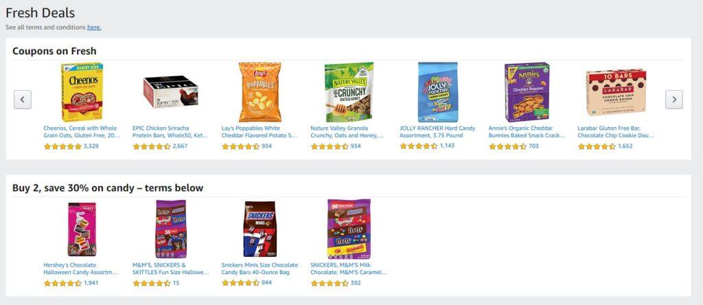 Amazon Fresh Coupons