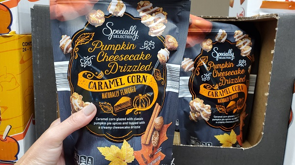 Aldi Seasonal Fall Snacks Pumpkin Cheesecake Caramel Corn