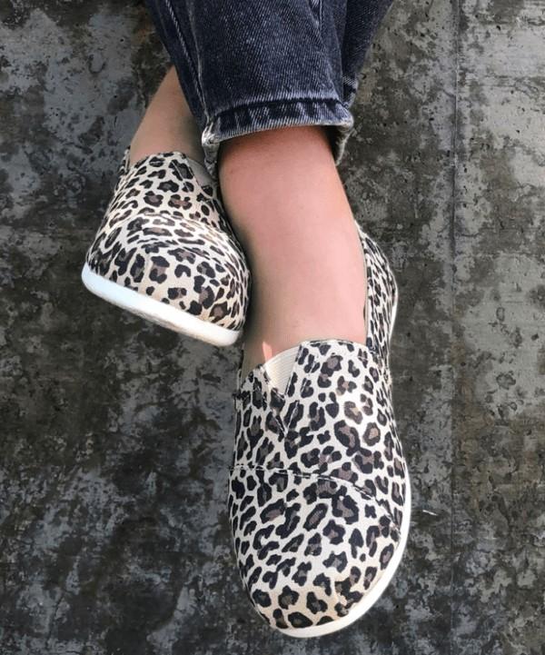 BOBS from Skechers Leopard Slip-Ons