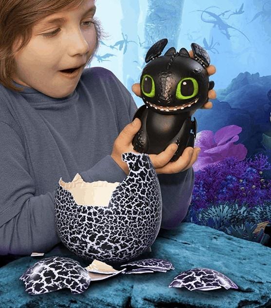 DreamWorks Dragons Hatching Toothless Interactive Baby Dragon w// Bonus Download