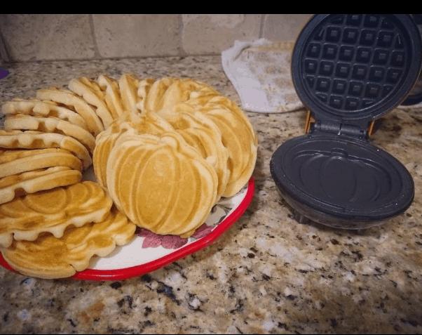 Pumpkin Pancakes with mini pancake maker