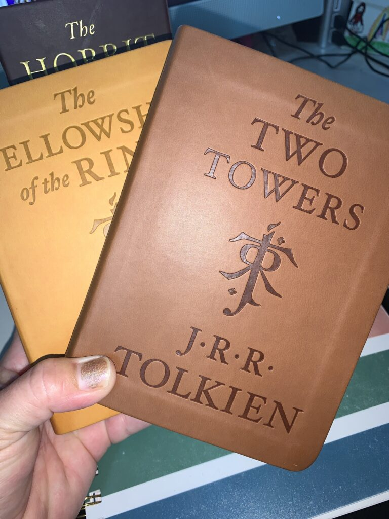 The Fellowship of the ring and The Two Towers Vinyl Bound Books