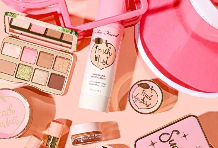 Too Faced Sale Multiple Cosmetics on Table