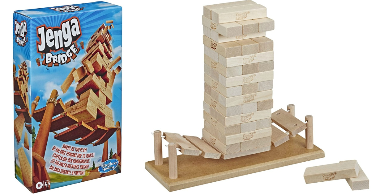 jenga wooden game box and blocks