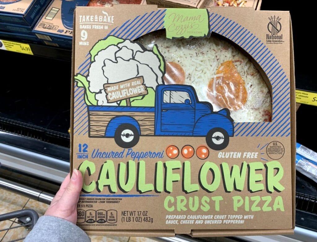 cauliflower crust pizza at aldi
