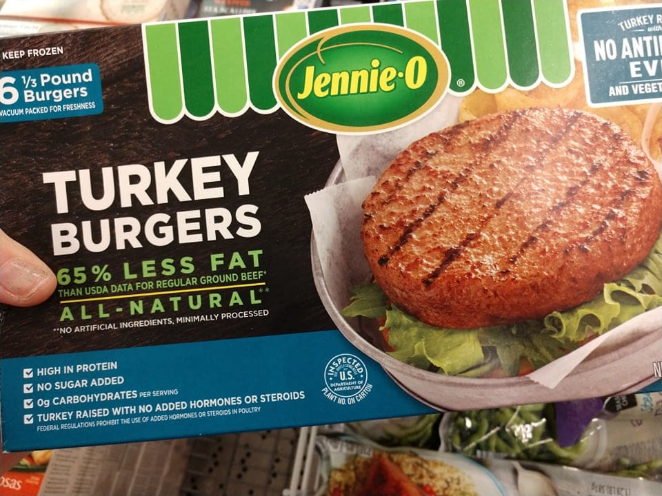 frozen turkey burgers
