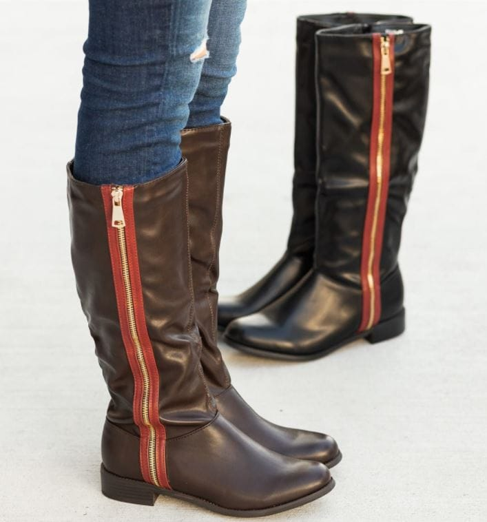 Woman's Boots Sale Zippered Boots