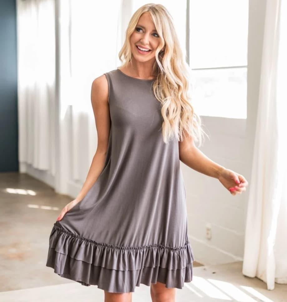 Ruffle Hem Dress