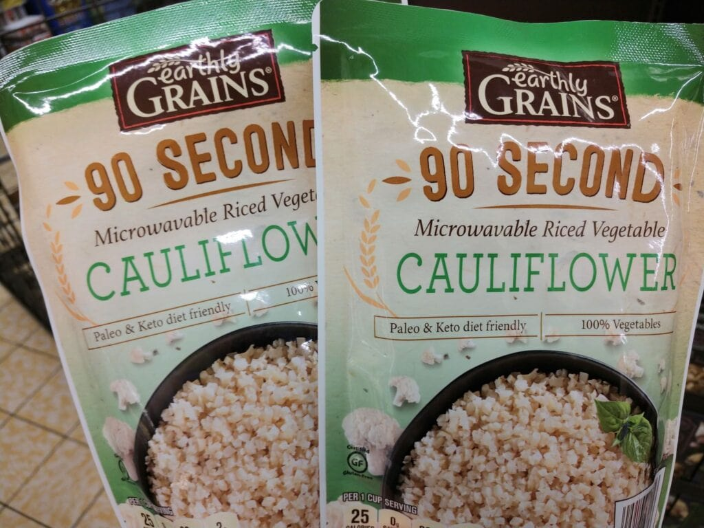microwaveable cauliflower rice
