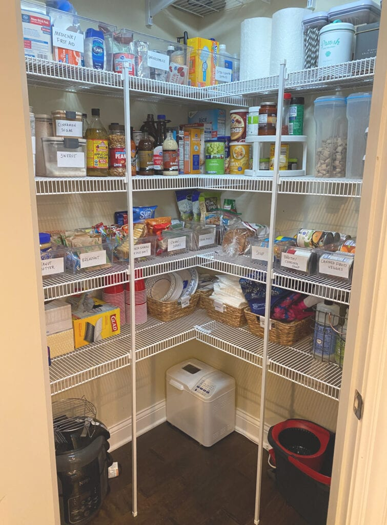 how to save on groceries stocked pantry