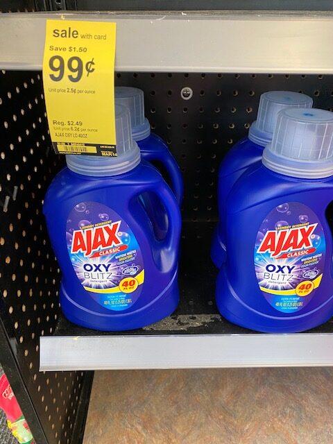Walgreens Ajax Laundry Detergent Under 1 No Coupon Needed
