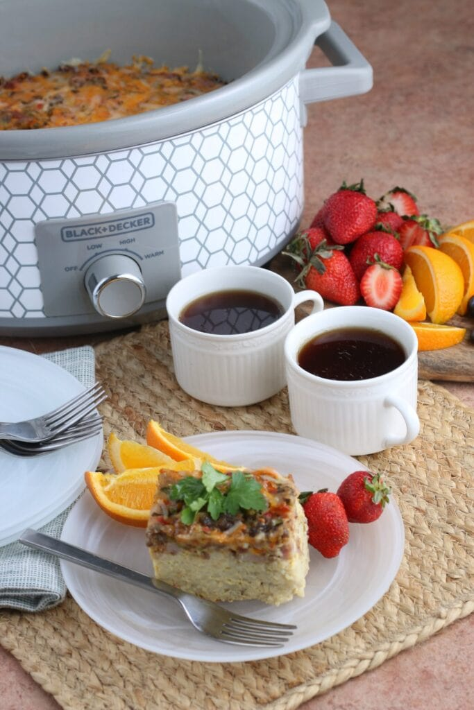 Crockpot Breakfast Casserole Perfect Leftover Ham Recipe