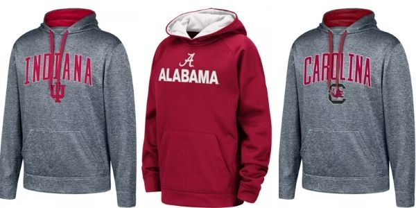 NCAA Hoodies Indiana Alabama and Carolina