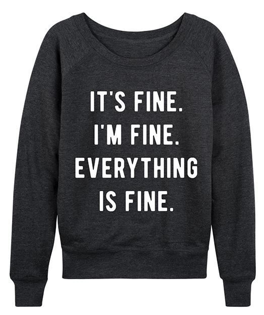 Slouchy Pullover with Fun Sayings