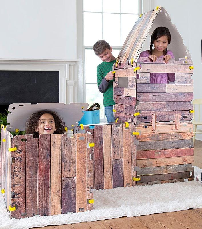 Wood Panel Fort Indoors