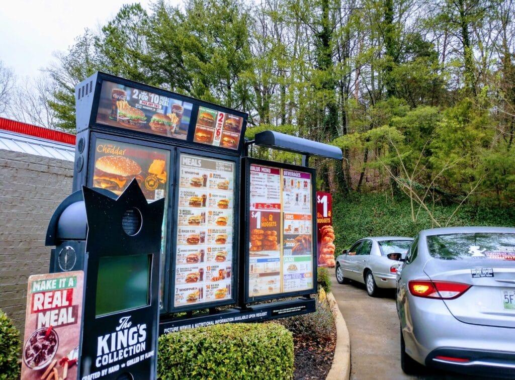 Burger King Happy Hour Fast Food Menu