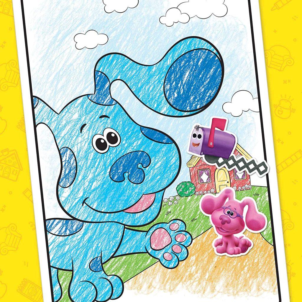blues clues crayola coloring sheet