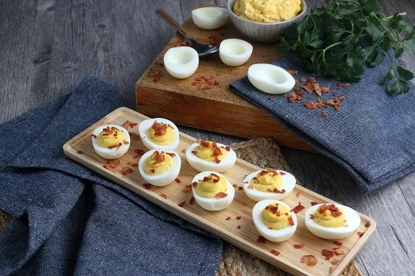 Deviled Eggs Finished on Platter