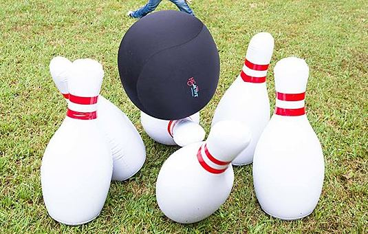 Giant Bowling Game up Close