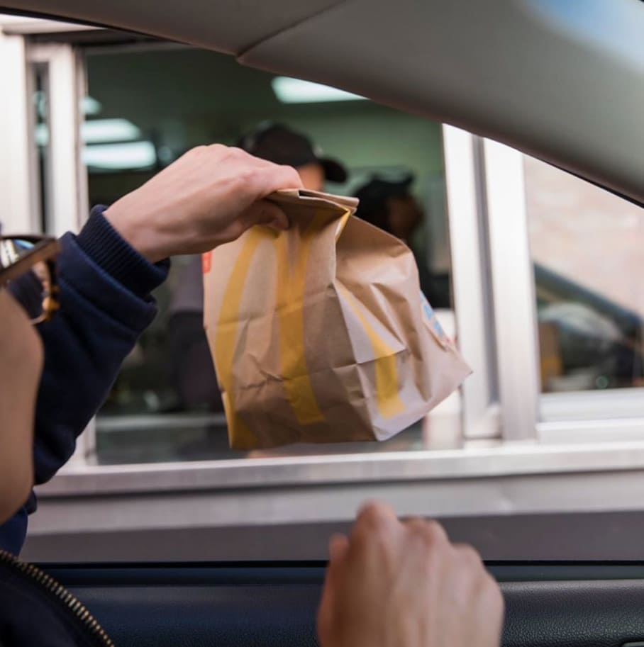 mcdonald's app deal bag out the window