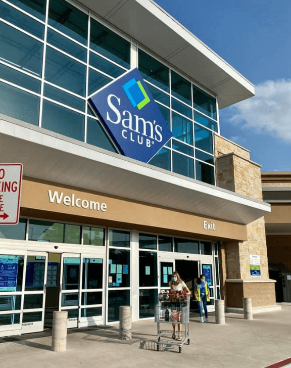 Sam's Club Membership Store Entrance