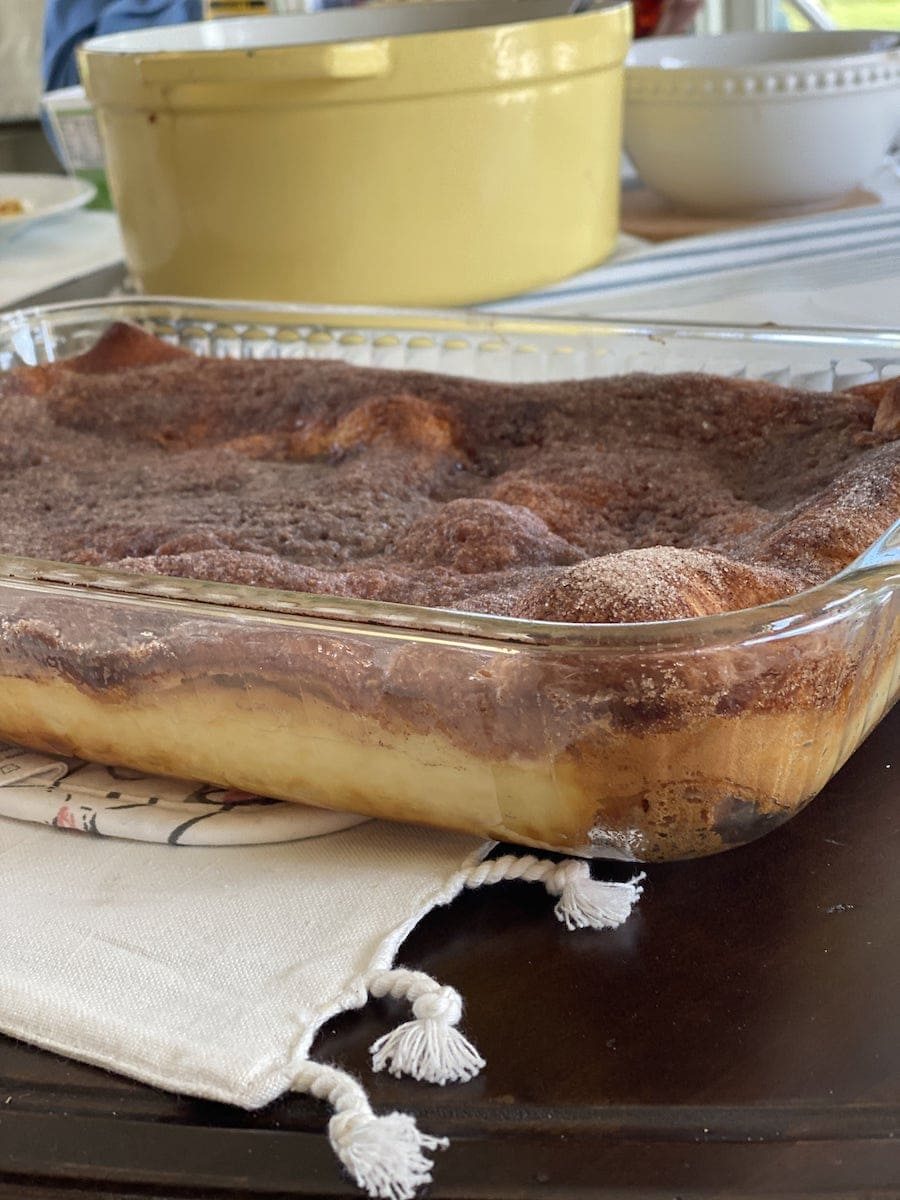 Sopapilla Cheesecake Finished Out of Oven