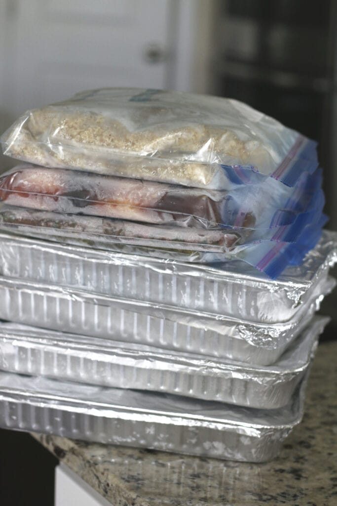 Freezer Meals on Counter