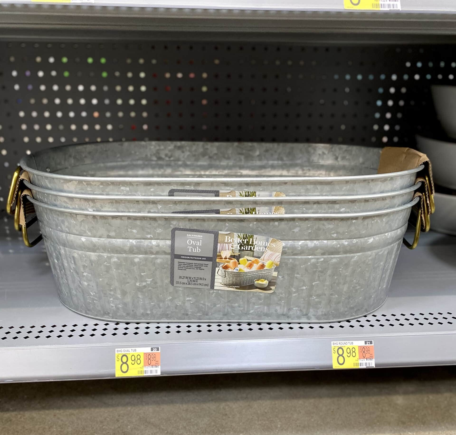 walmart galvanized tub