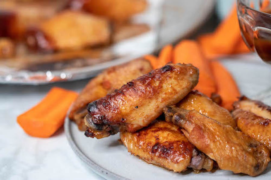 Chicken Wings Recipe Finished on plate