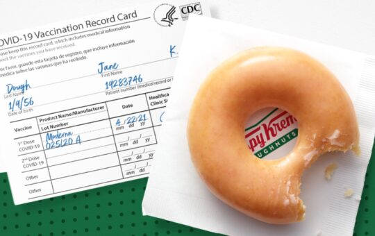 Krispy Kreme Promotions Covid Vaccine