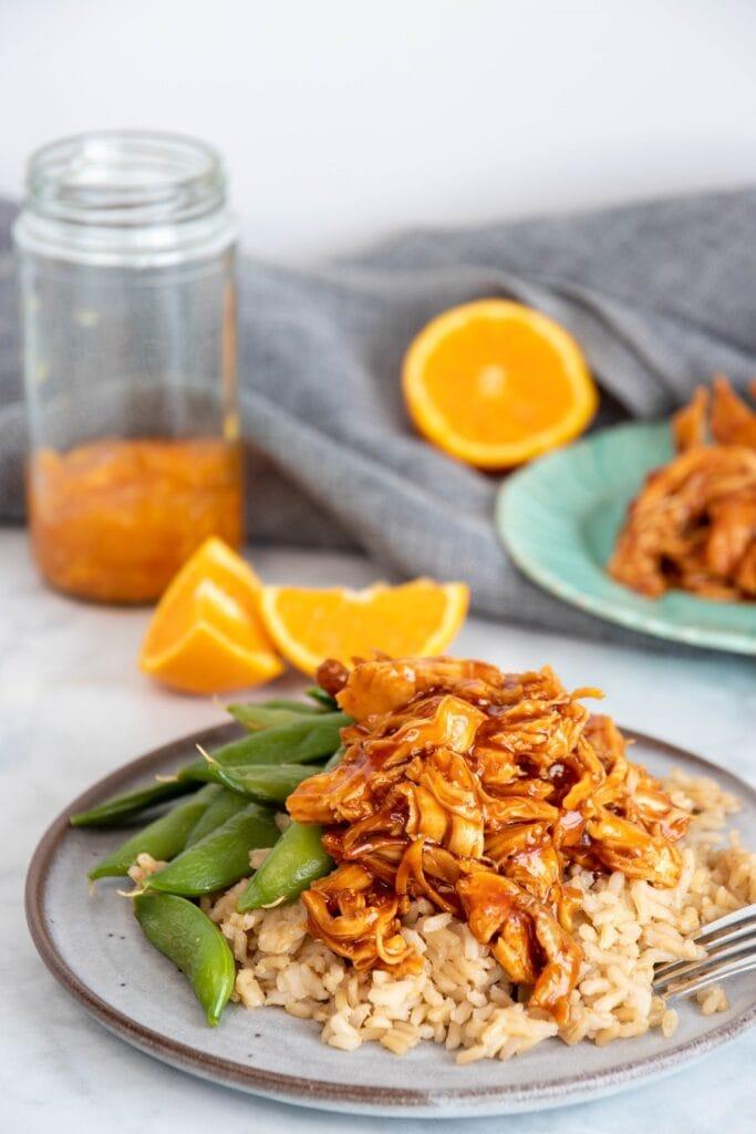 Orange Chicken on a Plate