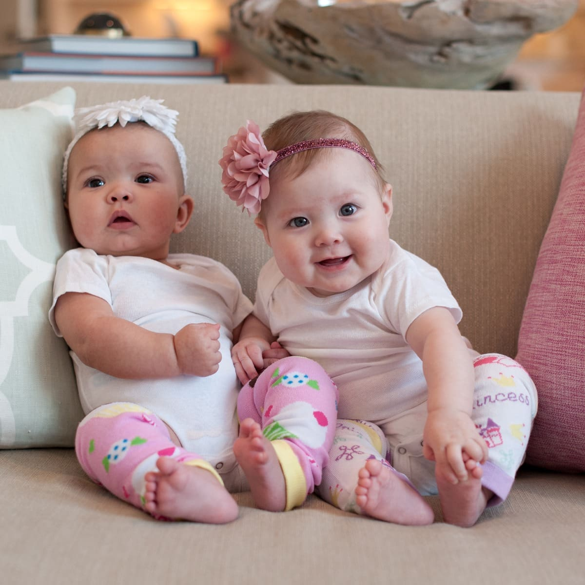 babies on couch