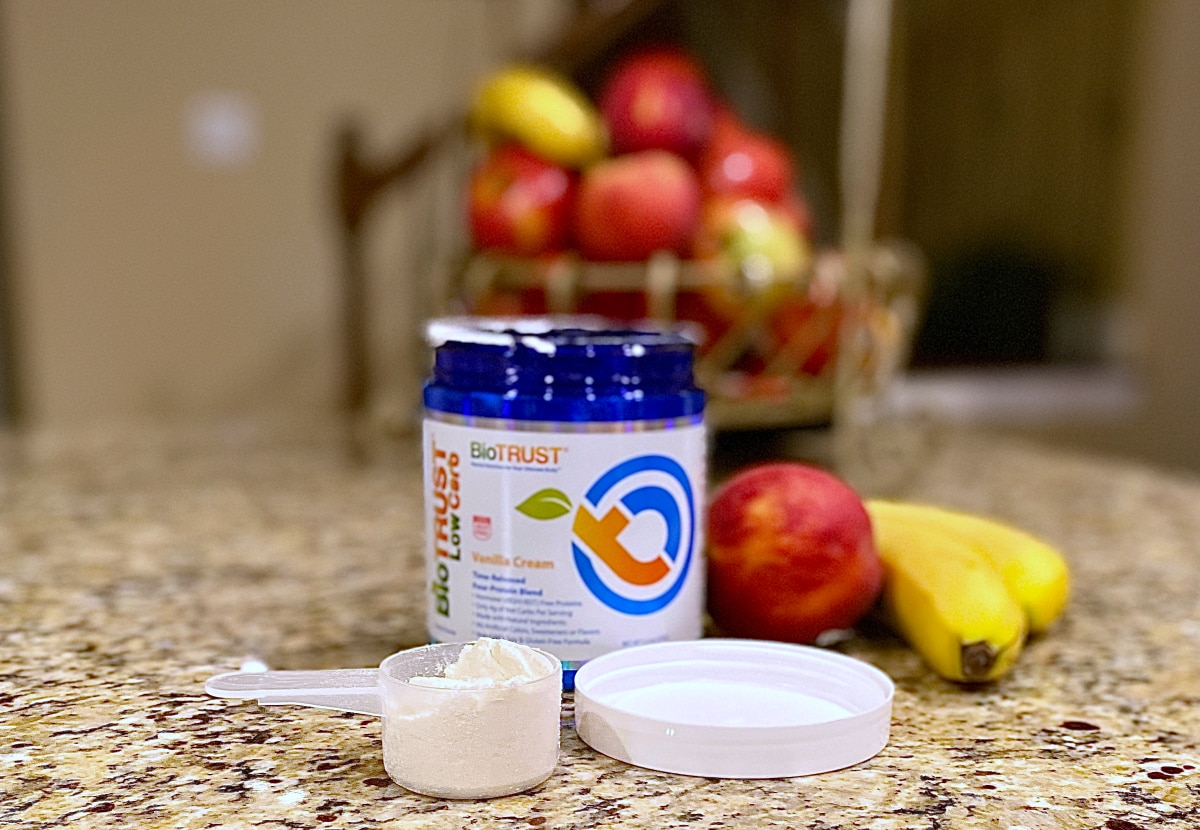 protein powder and fruit