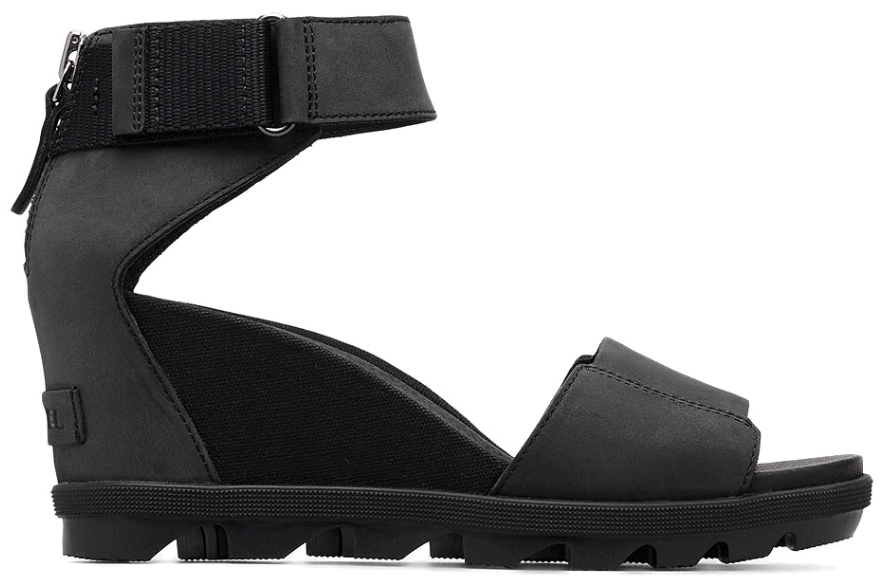 sorel black sandal