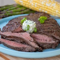 Grilled Flat Iron Steak with Gourmet Butter (YUM!)
