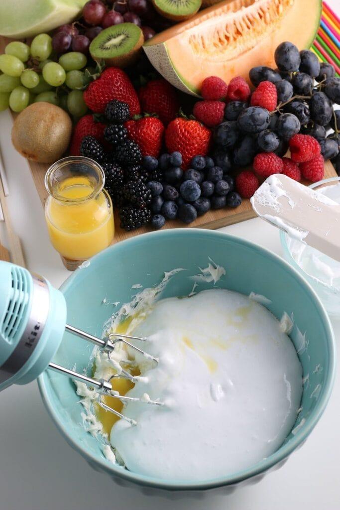 Making Fruit Kabob Dip