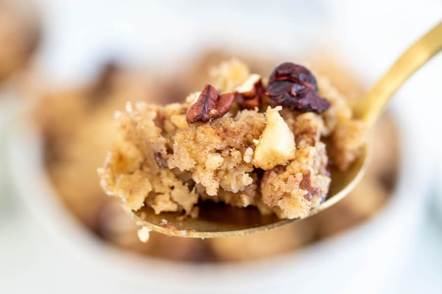 Baked Oatmeal on Spoon