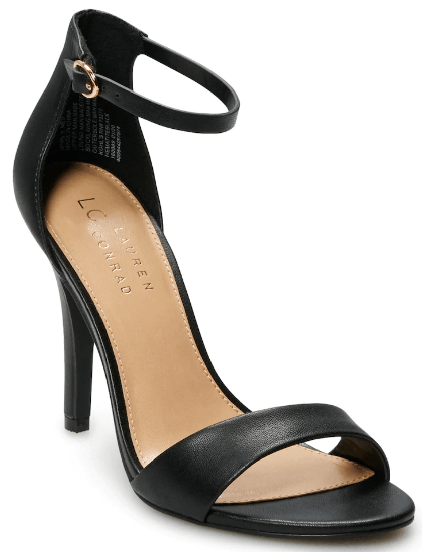 black heel pumps