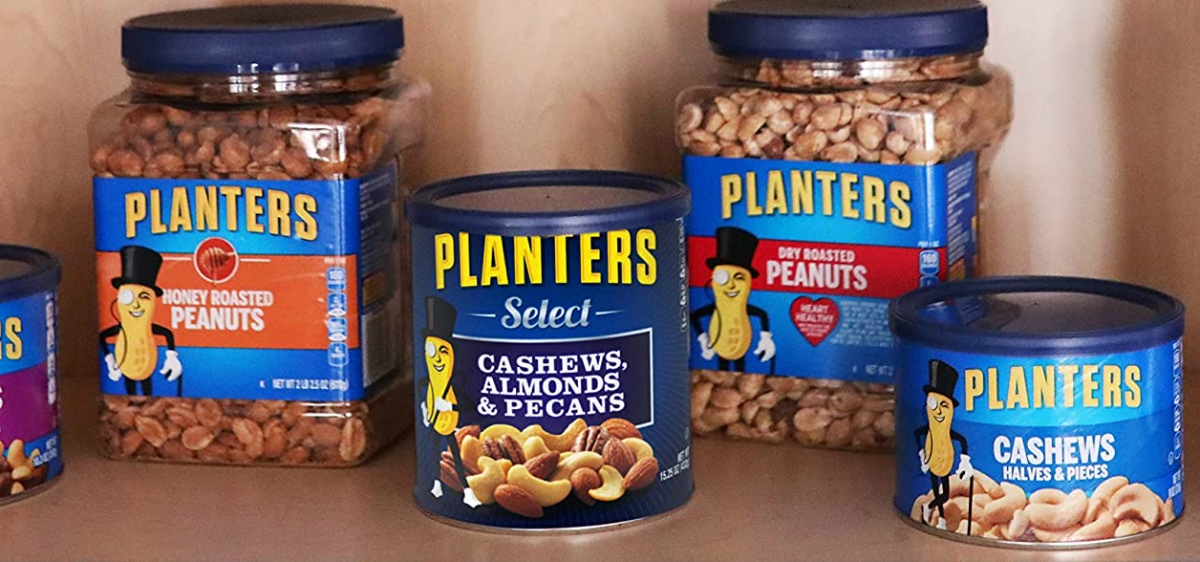 containers of Planters nuts
