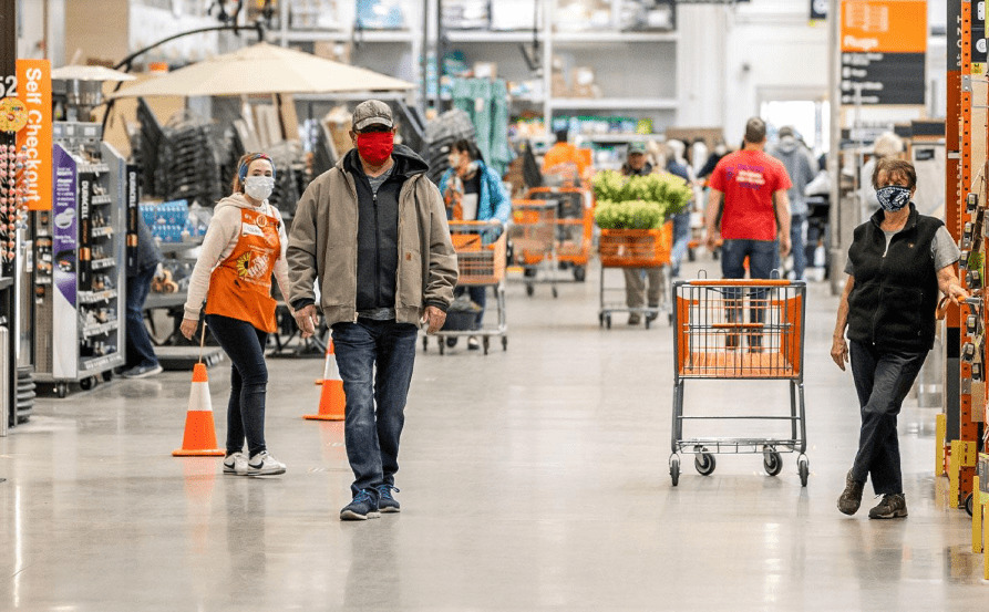 home depot customers required to wear face masks
