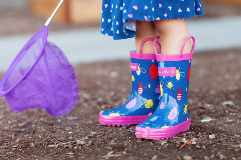 Kids Rain Boots under $10 + Raincoats
