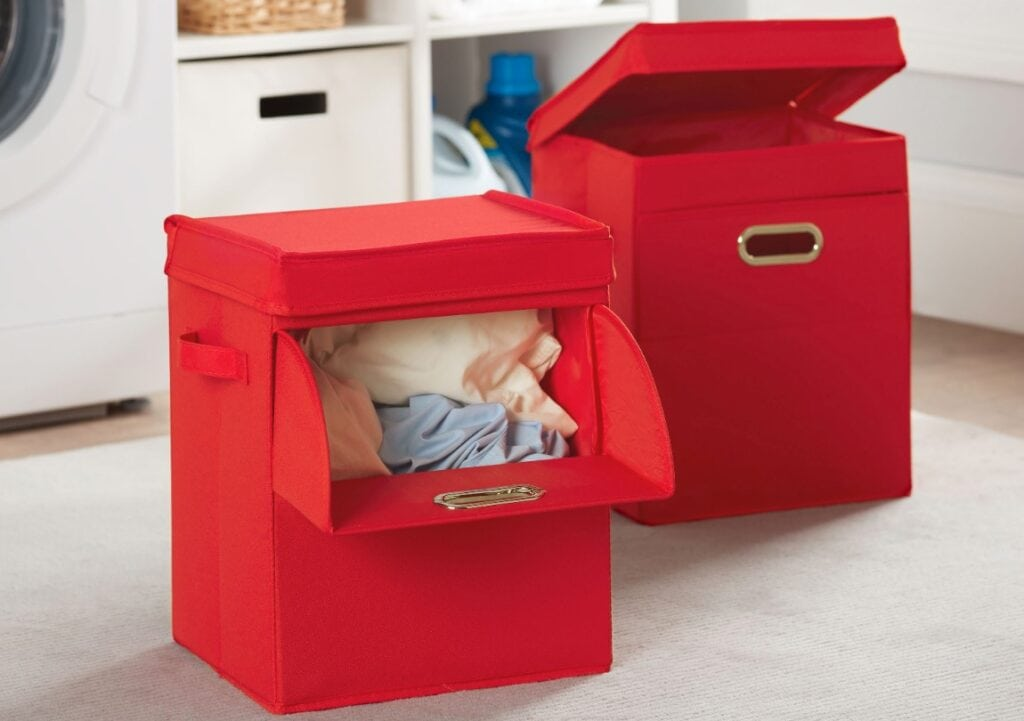 Stackable Laundry Hamper Red