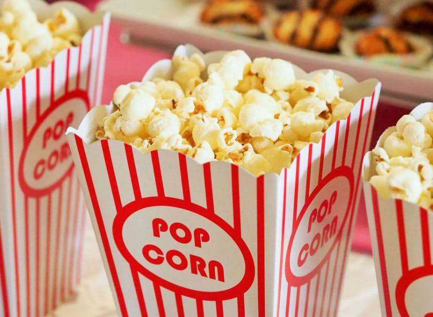Popcorn in buckets